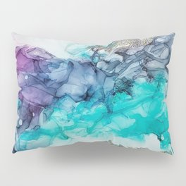 Remembering_ abstract painting , alcohol ink painting Pillow Sham