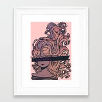 anonymous Framed Art Prints featuring Anonymous by Ludovic Jacqz