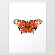 Geobutterfly Art Print
