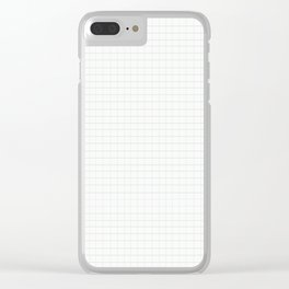 Greyscale Grid Clear iPhone Case