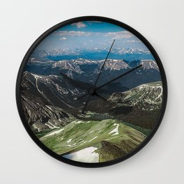 Summit the 14er Wall Clock