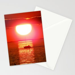 Sailboat Holds the Sun Stationery Cards