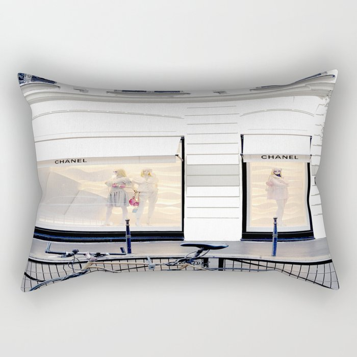 boutique coco paris and bicycle Rectangular Pillow