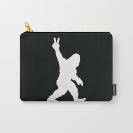 Bigfoot Sasquatch Peace Sign Silhouette Cartoon Carry-All Pouch