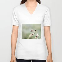 weed V-neck T-shirts featuring frosted weed by Bonnie Jakobsen-Martin