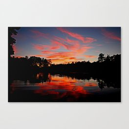 Wildfire sky Canvas Print