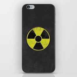 Grunge Radioactive Sign iPhone Skin