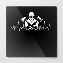 Lumberjack Heartbeat Metal Print