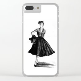 Fashion 1950 Clear iPhone Case