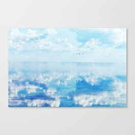 Ducks over sea Canvas Print