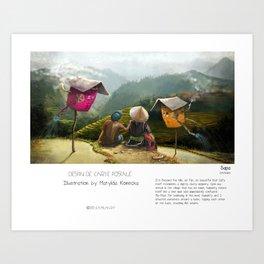 """Sapa"" in words & image (M.Konecka) Art Print"