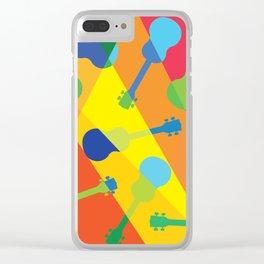 ukulele pattern Clear iPhone Case