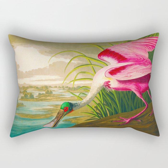 Roseate Spoonbill Bird pink Rectangular Pillow