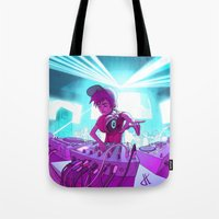 dj Tote Bags featuring DJ by Pere Devesa