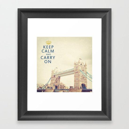 Keep Calm London Framed Art Print