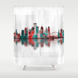 Rochester New York Skyline Shower Curtain