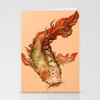 koi Stationery Cards featuring Koi by S.G. DeCarlo