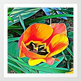 Flower in Expressive Birth Art Print