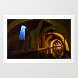 Cistern in the Alcazar Palace. Seville, Spain Art Print