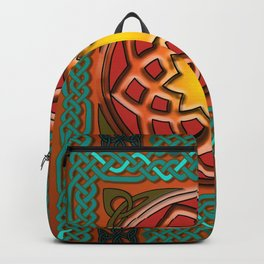 Celtic Knotwork panel in Persian Green Backpack