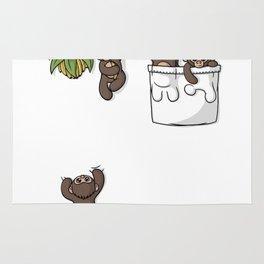 Cute Pocket Monkeys Rug