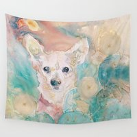 """rare Wall Tapestries featuring The Rare """"Chihuahua"""" Cactus by sheltered spirits"""