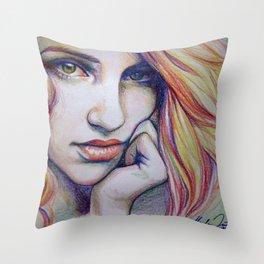 crayolagron Throw Pillow