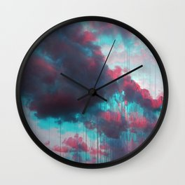Rainy Sky Wall Clock