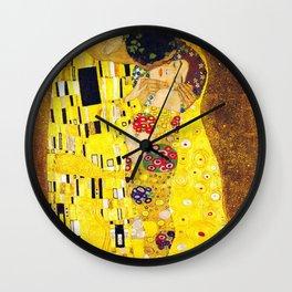 Gustav Klimt The Kiss Painting Wall Clock
