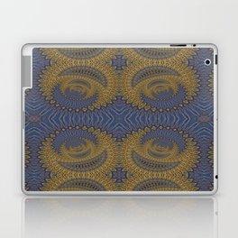 GoldBlue Mandalic Pattern 2 Laptop & iPad Skin