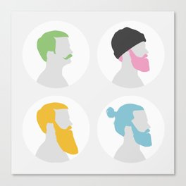 4x Mister hipster Canvas Print