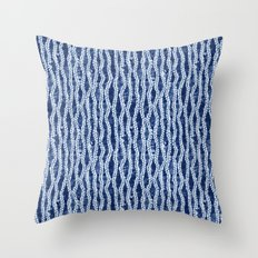 Shibori Eight Throw Pillow