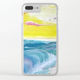Beachy Shore Clear iPhone Case