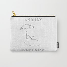 flamingo lonely paradise Carry-All Pouch