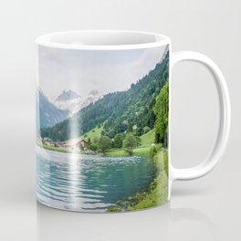 Blue Mountains and Lake   Europe Switzerland Nature Landscape Photography Coffee Mug