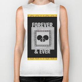 In Love Skulls Gold, Black & Silver Biker Tank