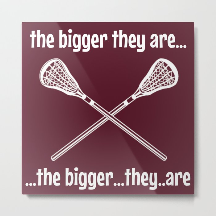 the bigger they are Metal Print