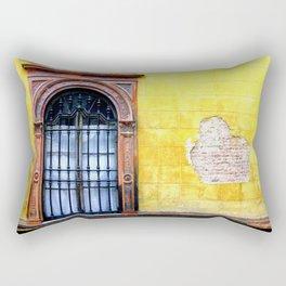 Yellow Window Rectangular Pillow