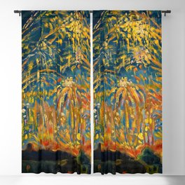 Colorful Summer Fireworks in Nice, France landscape by Nicolai Tarkoff Blackout Curtain