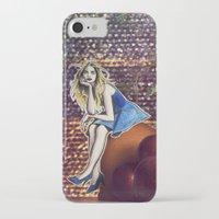 cara delevingne iPhone & iPod Cases featuring Cara Delevingne by Creadoorm