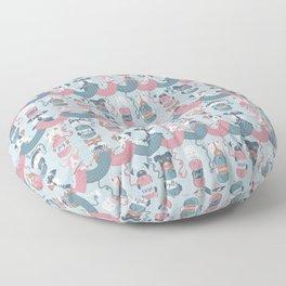 Knitting dog feelings I Floor Pillow