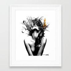 WISDOM AND FIRE Framed Art Print