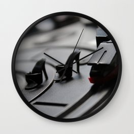 Scratching Circles Wall Clock