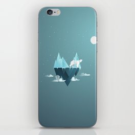 Low Poly Polar Bear iPhone Skin