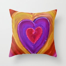 Pulsating Heart Throw Pillow