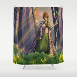 Herald of the Spring Shower Curtain
