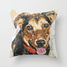 Noodles The Wonder Dog Throw Pillow