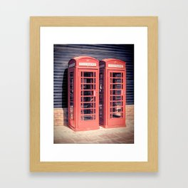 Red Boxes Framed Art Print