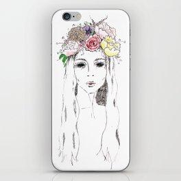 flowers in her hair iPhone Skin