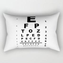 Eye Test Chart Rectangular Pillow